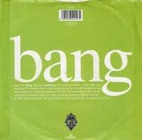 BLUR Bang Vinyl Record 7 Inch Food 1991.